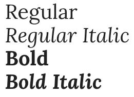 lora font
